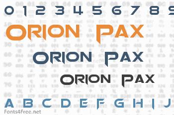 Orion Pax Font