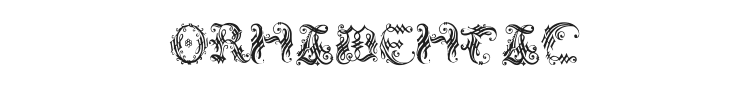 Ornamental Initial Font Preview