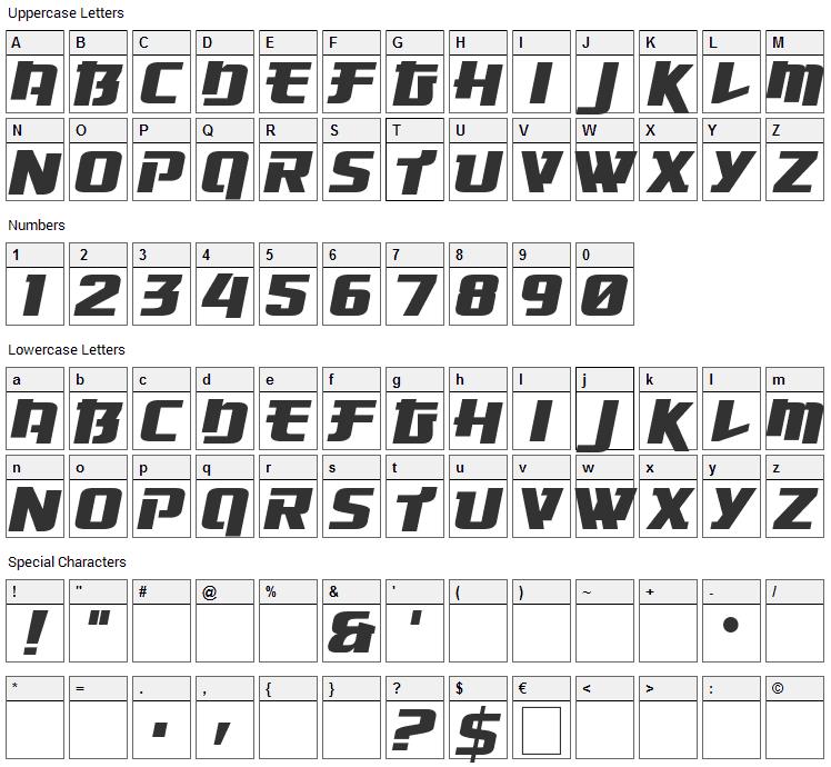 Osaka Sans Serif Font Character Map