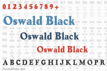 Oswald Black Font