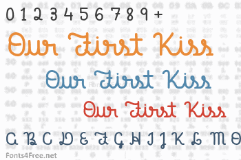 Our First Kiss Font