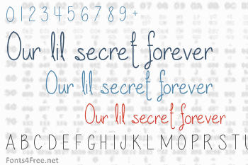 Our lil secret forever Font