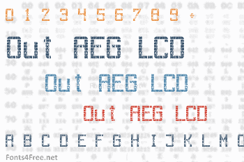 Out AEG LCD Font