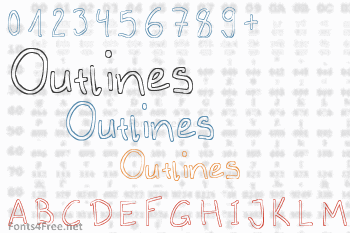 Outlines Font