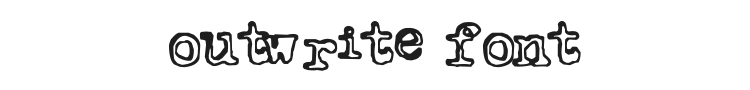 Outwrite Font Preview