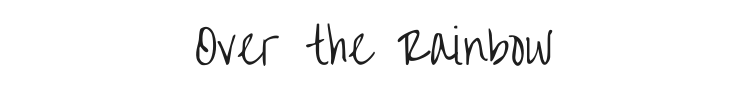 Over the Rainbow Font Preview