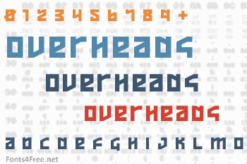 Overheads Font