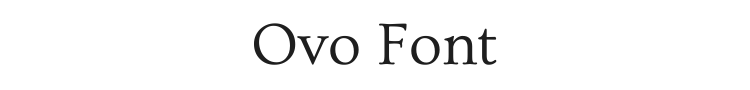 Ovo Font Preview