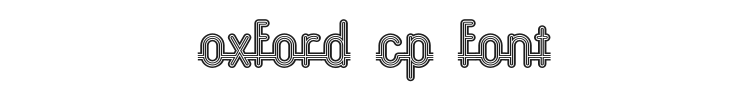 Oxford CP Font Preview