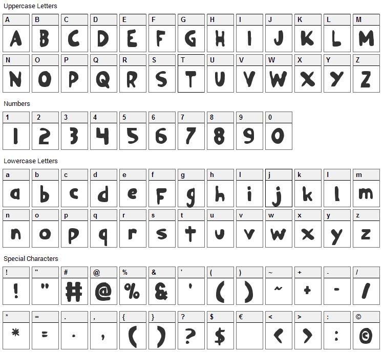 Ozymandias Font Character Map