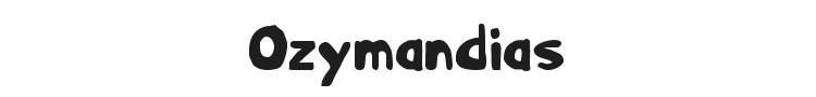 Ozymandias Font Preview