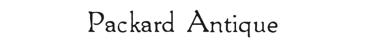 Packard Antique Font Preview