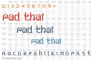 Pad Thai Font