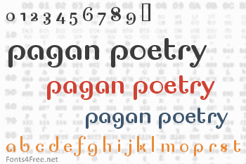 Pagan Poetry Font