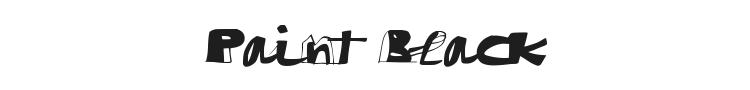 Paint Black Font