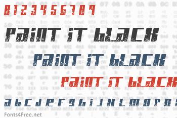 Paint It Black Font