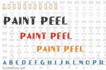 Paint Peel Initials Font