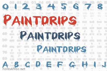 Paintdrips Font