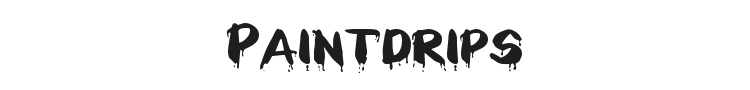 Paintdrips Font Preview