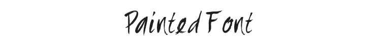 Painted Font