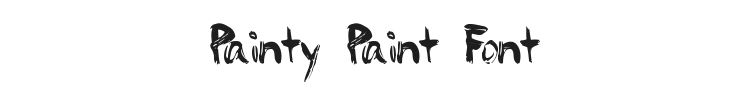 Painty Paint Font Preview