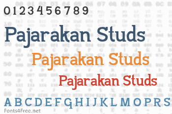 Pajarakan Studs Font