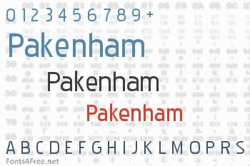 Pakenham Font