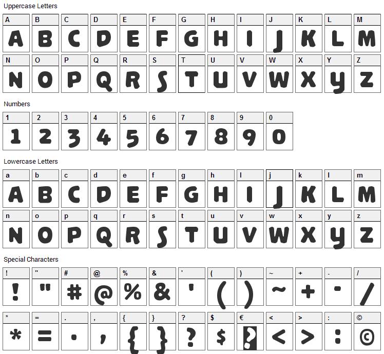 Palamecia Titling Font Character Map