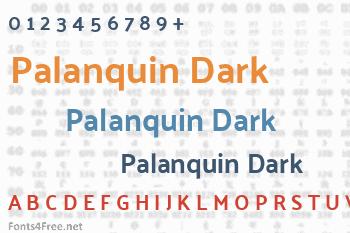 Palanquin Dark Font