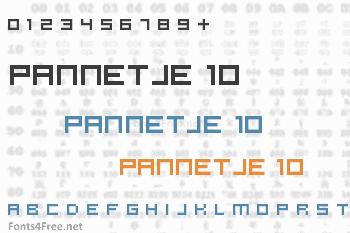 Pannetje 10 Font