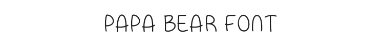 Papa Bear Font Preview