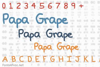 Papa Grape Font