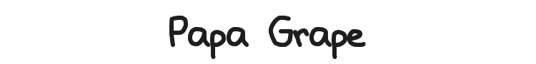 Papa Grape Font