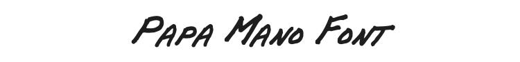 Papa Mano Font Preview