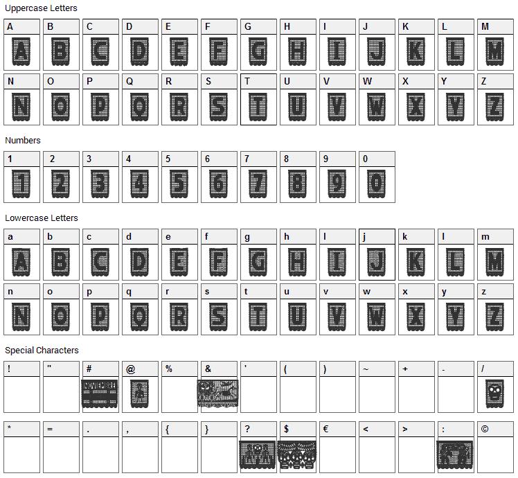 Papel Picado Font Character Map