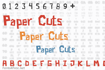 Paper Cuts Font