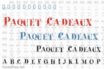 Paquet Cadeaux Font