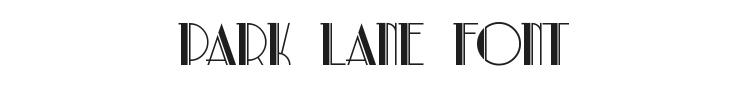 Park Lane Font Preview