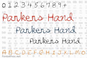 Parkers Hand Font
