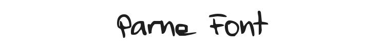 Parne Font Preview