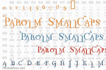 Parolm SmallCaps Font