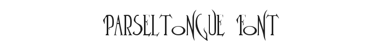 Parseltongue Font Preview