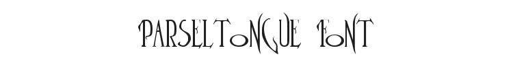 Parseltongue Font Preview