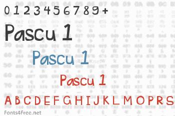Pascu 1 Font