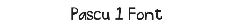Pascu 1 Font Preview