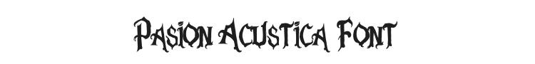 Pasion Acustica Font