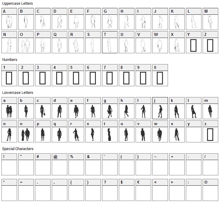 Passarela Font Character Map