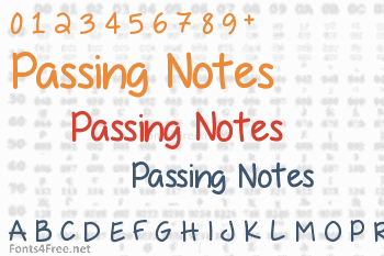 Passing Notes Font