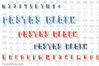 Pastas Black Font