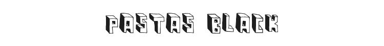 Pastas Black Font Preview